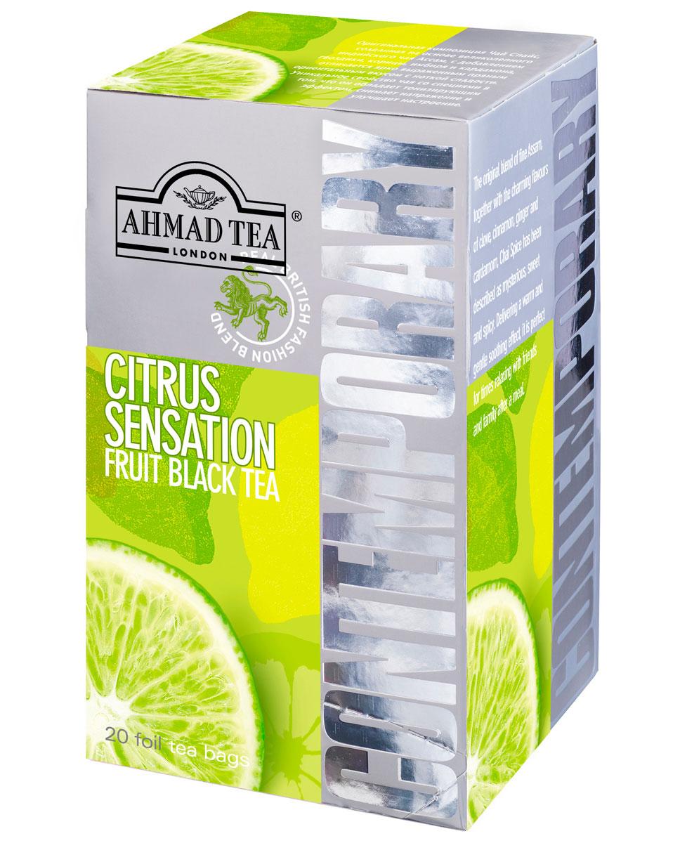 Ahmad Tea Citrus Sensation черный чай в фольгированных пакетиках, 20 шт