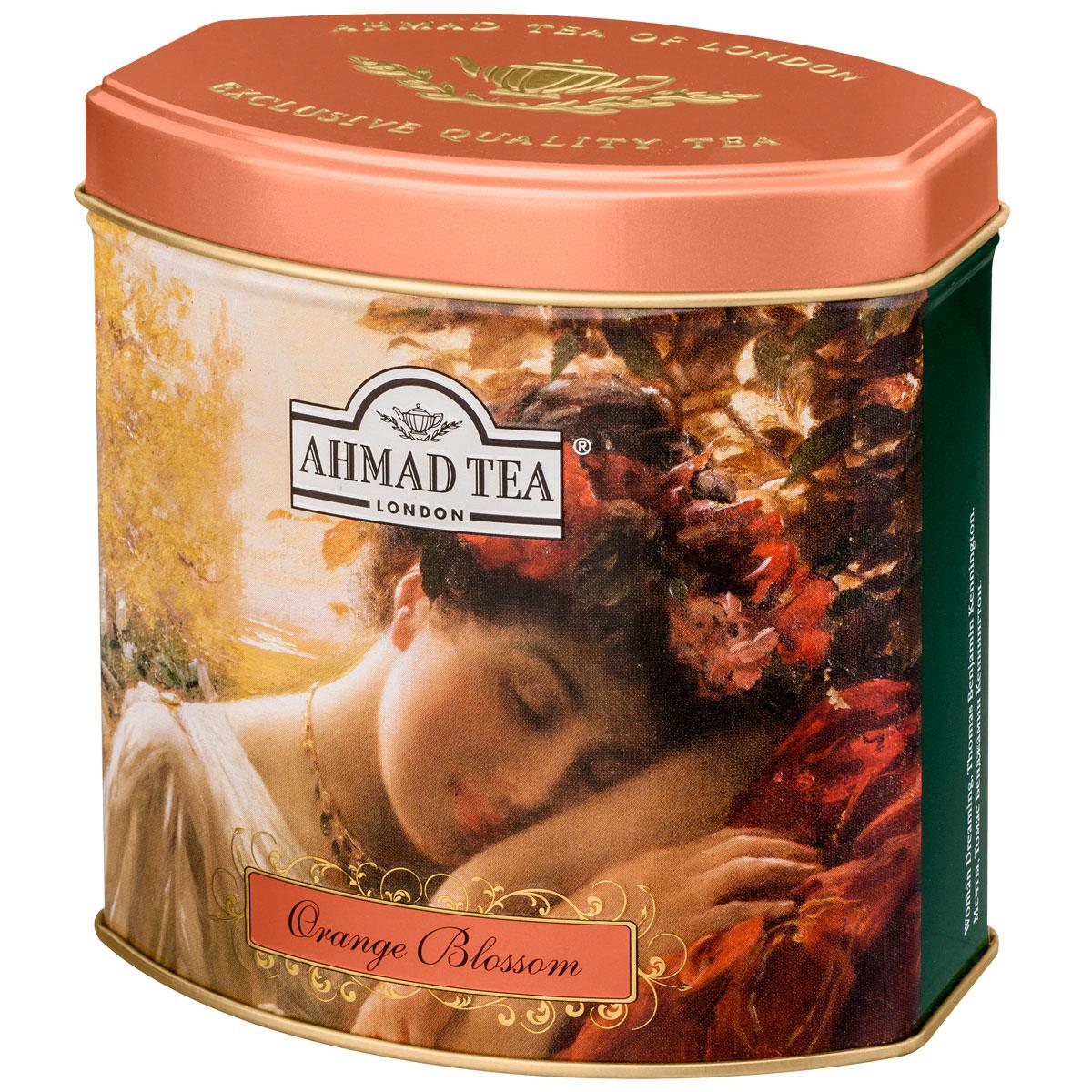 Ahmad Tea Orange Blossom черный чай, 100 г (жестяная банка)1172В европейской традиции цветок апельсина считается символом любви. В честь него назвали букет невесты - флердоранж. Моду на них и на белые свадебные платья ввела английская королева Виктория в 19 в. И также чуть заметная сластинка и тонкий аромат солнечного фрукта составляют особенный легкий букет чая Ahmad Orange Blossom. Заваривать 5-7 минут, температура воды 100°С.