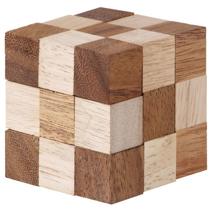 Dilemma Головоломка Змейка Джамбо 11х11х11 смIQ 317AГоловоломка Dilemma Змейка Джамбо, выполненная из дерева, станет отличным подарком всем любителям головоломок! Перед вами деревянный куб. Раскройте его, вытянув в извивающуюся змейку… это просто! Теперь попробуйте собрать куб снова. Вот это уже сложнее! Использовать силу запрещено… Слишком сложно? Воспользуйтесь предложенным решением в качестве подсказки. Игра рассчитана на одного игрока. Головоломка Dilemma Змейка Джамбо стимулирует логику, пространственное мышление и мелкую моторику рук.