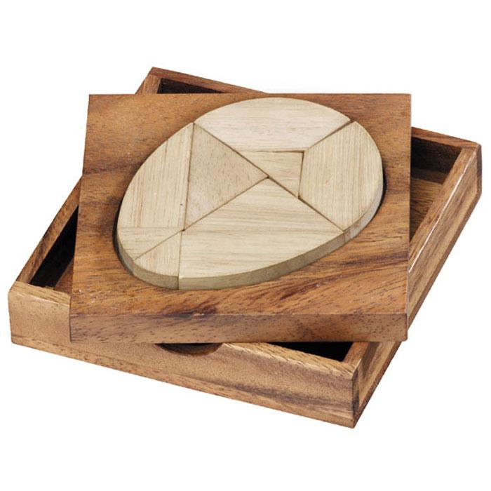 Dilemma Головоломка Колумбово яйцо 2DIQ405Головоломка Dilemma Колумбово яйцо 2D, выполненная из дерева, станет отличным подарком всем любителям головоломок! Головоломка состоит из деревянной рамки и 9 деревянных деталей. В этой игре сразу 61 головоломка. 1. Попробуйте поместить 9 элементов в рамку (в форме яйца). 2. Попробуйте собрать 60 разных фигур в форме птиц. Слишком сложно? Тогда вы можете воспользоваться предложенным решением в качестве подсказки. Игра рассчитана на одного игрока. Головоломка Dilemma Колумбово яйцо 2D стимулирует логику, пространственное мышление и мелкую моторику рук.