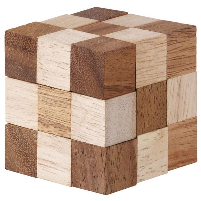 Dilemma Головоломка Куб Змейка IQ317 7,5х7,5х7,5 смIQ317Головоломка Dilemma Куб Змейка, выполненная из дерева, станет отличным подарком всем любителям головоломок! Перед вами деревянный куб. Раскройте его, вытянув в извивающуюся змейку. Это просто! Теперь попробуйте собрать куб снова. Вот это уже сложнее! Использовать какую-либо силу запрещено. Слишком сложно? Тогда вы можете воспользоваться предложенным решением в качестве подсказки. Головоломка Dilemma Куб Змейка стимулирует логику, пространственное мышление и мелкую моторику рук.