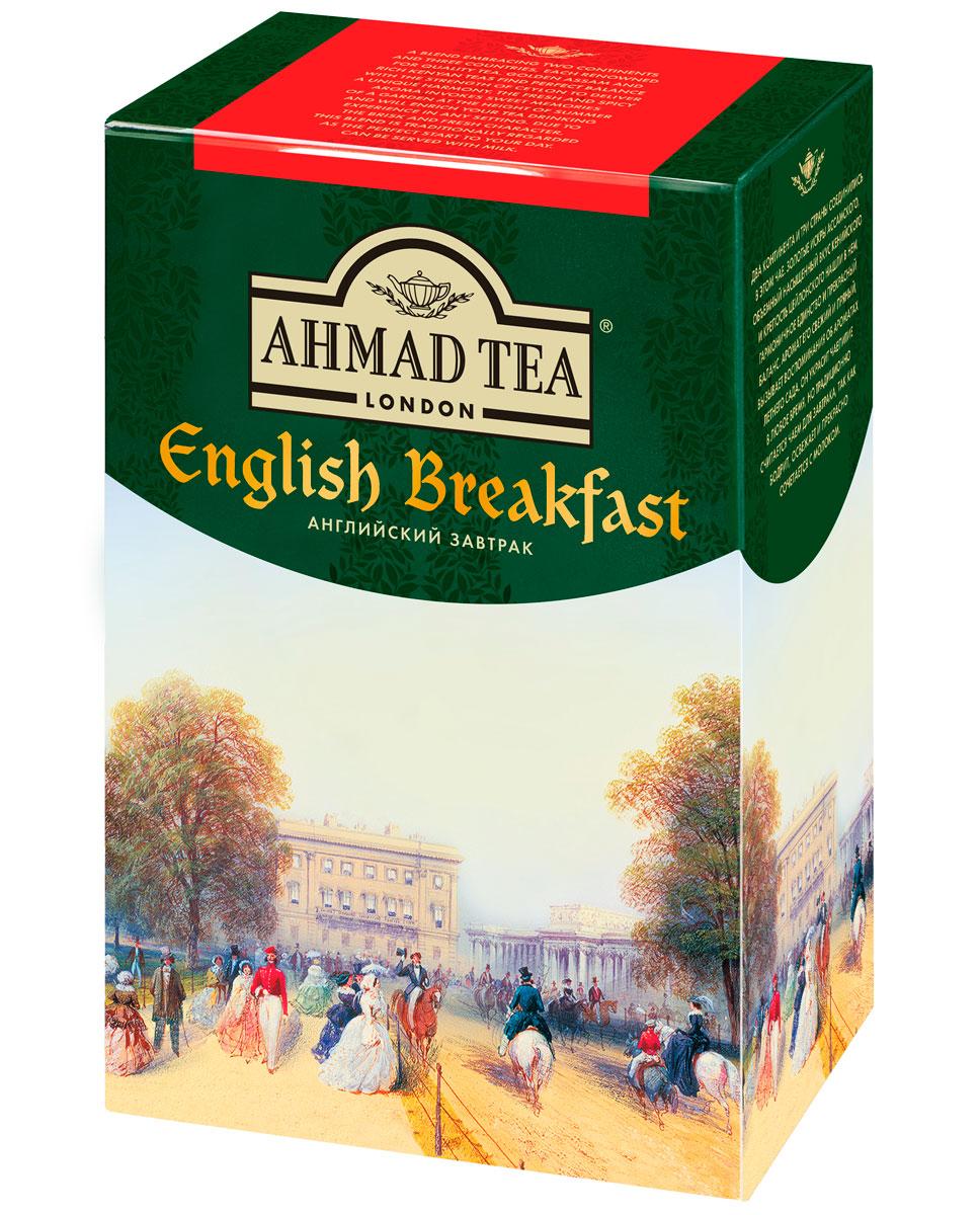 Ahmad Tea English Breakfast черный чай, 90 г1301Два континента и три страны соединились в чае Ahmad English Breakfast. Золотистые искры ассамского, объемный и насыщенный вкус кенийского и крепость цейлонского нашли в нем гармоничное единство и прекрасный баланс. Аромат его свежий и пряный, вызывает воспоминания об ароматах летнего сада. Он украсит чаепитие в любое время, но традиционно считается чаем для завтрака, так как бодрит, освежает и прекрасно сочетается с молоком.