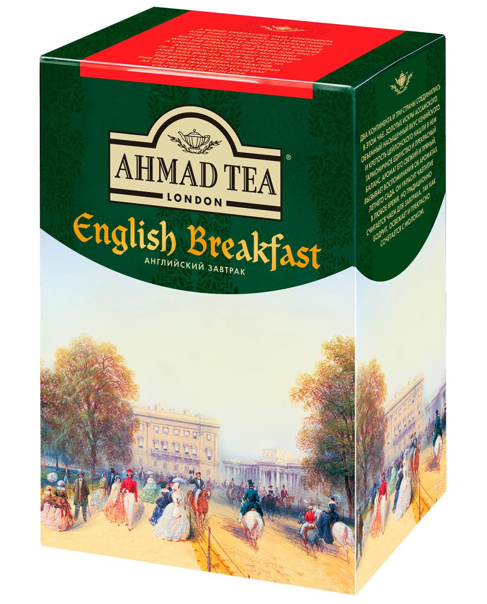 Ahmad Tea English Breakfast черный чай, 200 г1292Два континента и три страны соединились в чае Ahmad English Breakfast. Золотистые искры ассамского, объемный и насыщенный вкус кенийского и крепость цейлонского нашли в нем гармоничное единство и прекрасный баланс. Аромат его свежий и пряный, вызывает воспоминания об ароматах летнего сада. Он украсит чаепитие в любое время, но традиционно считается чаем для завтрака, так как бодрит, освежает и прекрасно сочетается с молоком. Заваривать 5-7 минут, температура воды 100°С.