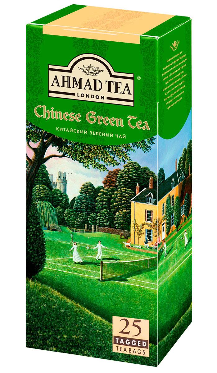 Ahmad Tea китайский зеленый чай в пакетиках, 25 шт