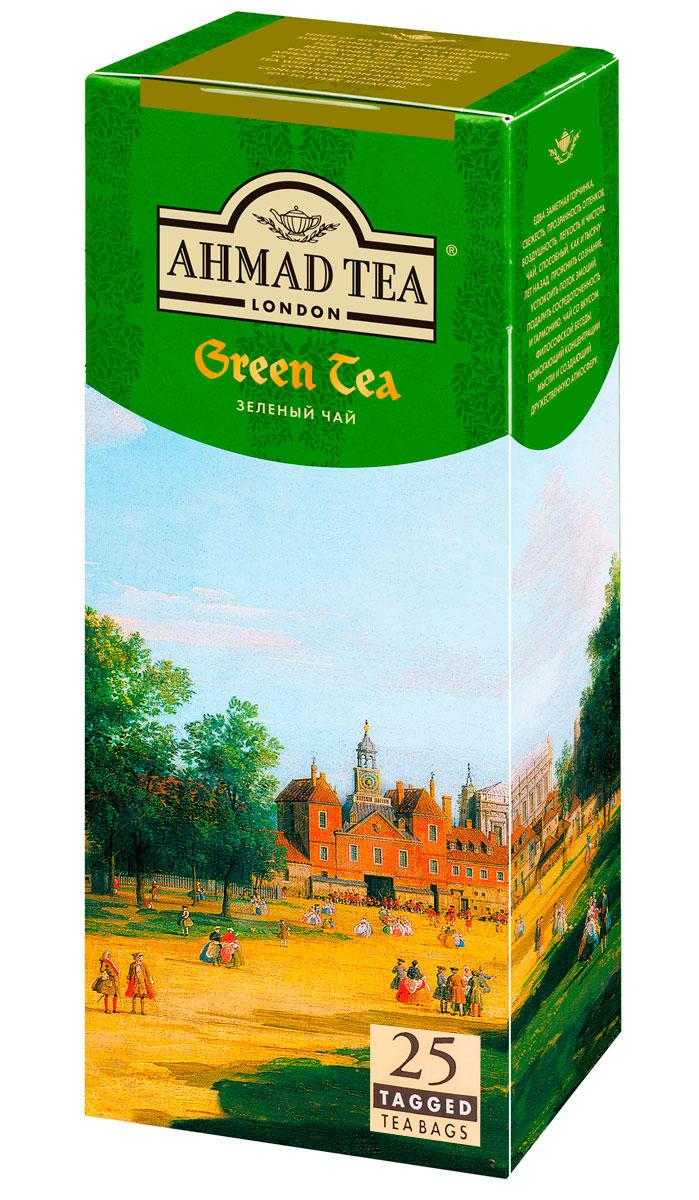 Ahmad Tea зеленый чай в пакетиках, 25 шт589LY-012Едва заметная горчинка, свежесть, прозрачность оттенков, воздушность, легкость и чистота. Чай Ahmad Tea, способный, как и тысячу лет назад, прояснить сознание, успокоить поток эмоций, подарить сосредоточенность и гармонию. Чай со вкусом философской беседы, помогающий концентрации мысли и создающий дружественную атмосферу.