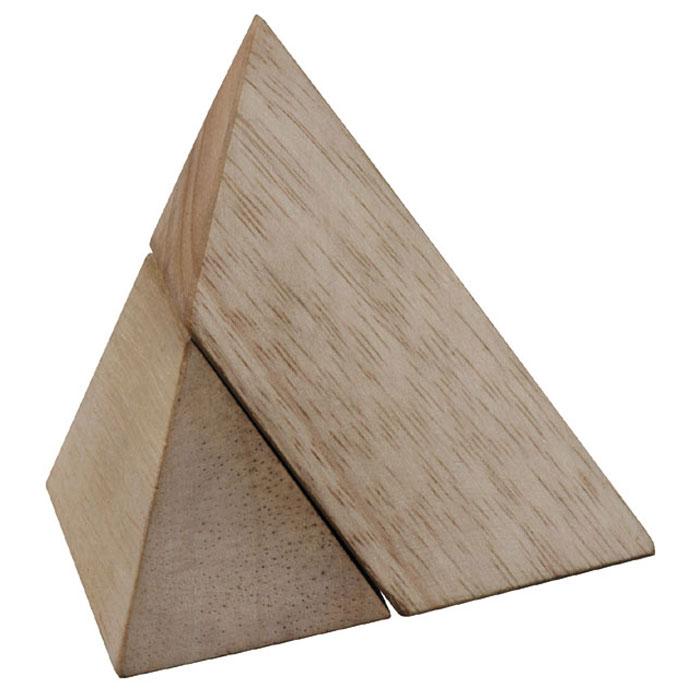 Dilemma Головоломка Пирамида IQ501AIQ501AГоловоломка Dilemma Пирамида, выполненная из дерева, станет отличным подарком всем любителям головоломок! Пазл состоит из 2 одинаковых деревянных деталей. Попробуйте собрать треугольную пирамиду (тетраэдр, в основании которого будет равносторонний треугольник). Слишком сложно? Воспользуйтесь подсказкой из предложенного решения. Игра рассчитана на одного игрока. Головоломка Dilemma Пирамида стимулирует логику, пространственное мышление и мелкую моторику рук.