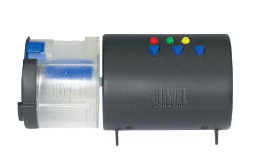 Авто-кормушка д/рыб JUWEL с электронным таймером89000Авто-кормушка для рыб с электронным таймером. Подходит для хлопьев, палочек, таблеток. Регулируемое дозирование корма, програмирование до 2 - х кормлений в сутки, емкость для корма - на 60 кормлений (30 суток)