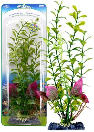 Растение-композиция BLOOMING LUDWIGIA-MALAY CRIP 20см. ЛЮДВИГИЯ-КРИПТОКОРИНАP1GVMHКомпозиция их двух растений на массивном основани, удерживающем композицию на дне аквариума. Растения, объединенные на одном основании являются оригинальным элементом оформления аквариума.