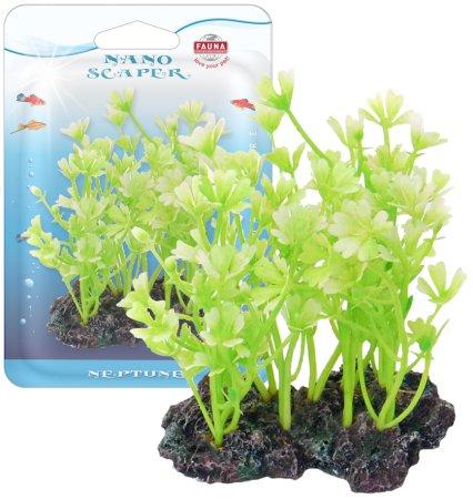 Растение HIDROCOTYLE 10см с грузом бело-зеленое. ГИДРОКОТИЛА