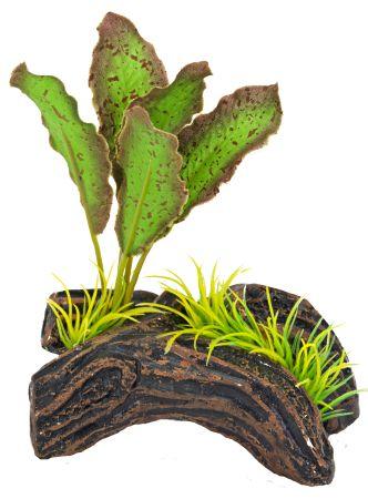 Распылитель декоративный РАСТЕНИЕ НА БРЕВНЕ зеленоеPS114Декоративный пластиковый распылитель. Вместе с основной функцией распыления воздуха является эффектным элементом декорирования аквариума.