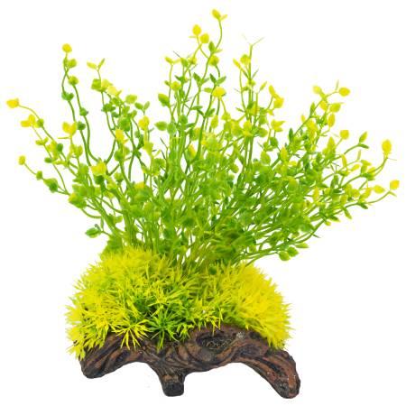 Распылитель декоративный РАСТЕНИЕ НА КОРЯГЕ ж/зеленоеPS109Декоративный пластиковый распылитель. Вместе с основной функцией распыления воздуха является эффектным элементом декорирования аквариума.