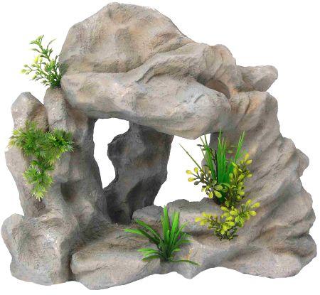 Распылитель декоративный СКАЛА С РАСТЕНИЯМИFIAD-1111Декоративный пластиковый распылитель. Вместе с основной функцией распыления воздуха является эффектным элементом декорирования аквариума.