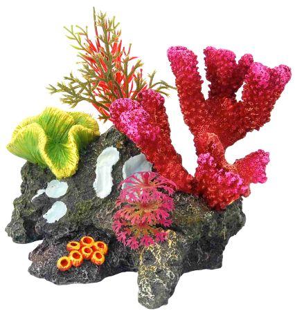 Декорация КОРАЛЛЫ 13,5х13х21см пластикFIAD-1120Красочный пластиковый коралл. Комбинации из различных кораллов создают в аквариуме пеструю и причудливую картину морского дна. Красочная упаковка.