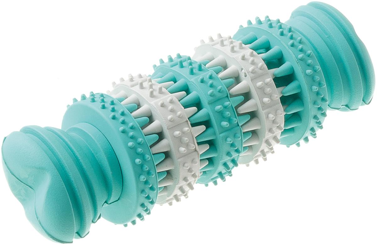 Игрушка резиновая с запахом мяты для чистки зубов Кость малая 11 см 1310113101