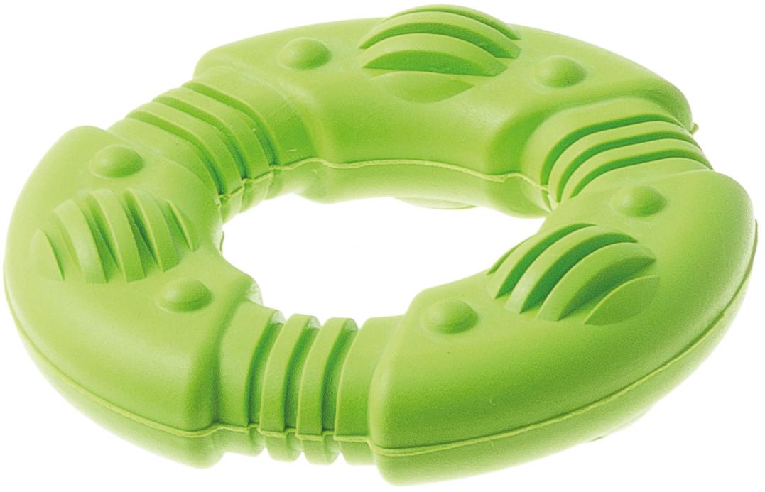 Игрушка для собак Aveva Кольцо рифлёное, для чистки зубов, 7,5 х 7,5 х 2 см13114Игрушка Aveva Кольцо рифлёное изготовлена из высококачественной резины с использованием только безопасных, не токсичных красителей. Привлечет внимание вашего любимца, позволит весело провести ему время, не навредит здоровью, а также поможет вам сохранить в целости личные вещи и предметы интерьера. Рифленая поверхность на игрушке прекрасно массирует десна и чистит зубы.