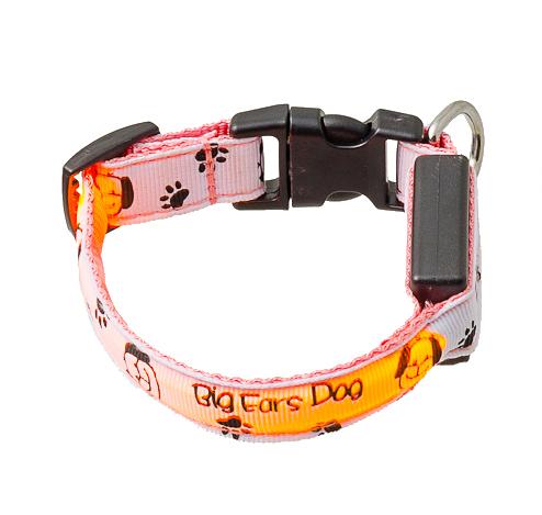 Ошейник с USB-зарядкой светящ. «Собачки и лапки», 15мм, (18-28см) 14-3400US14-3400US