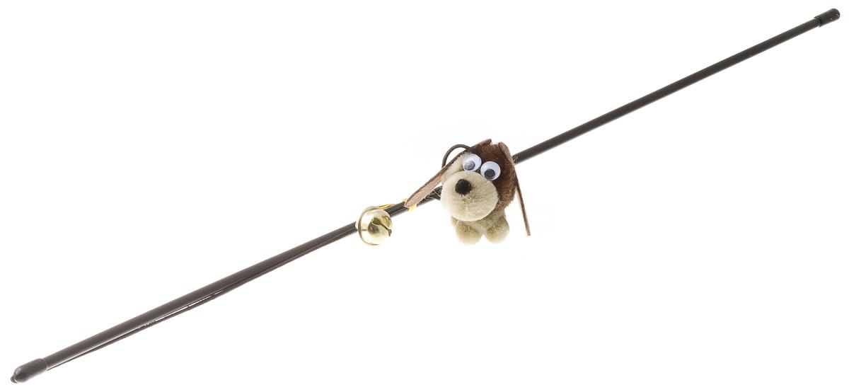 Дразнилка-удочка V.I.Pet Собака с колокольчиком 30-096130-0961