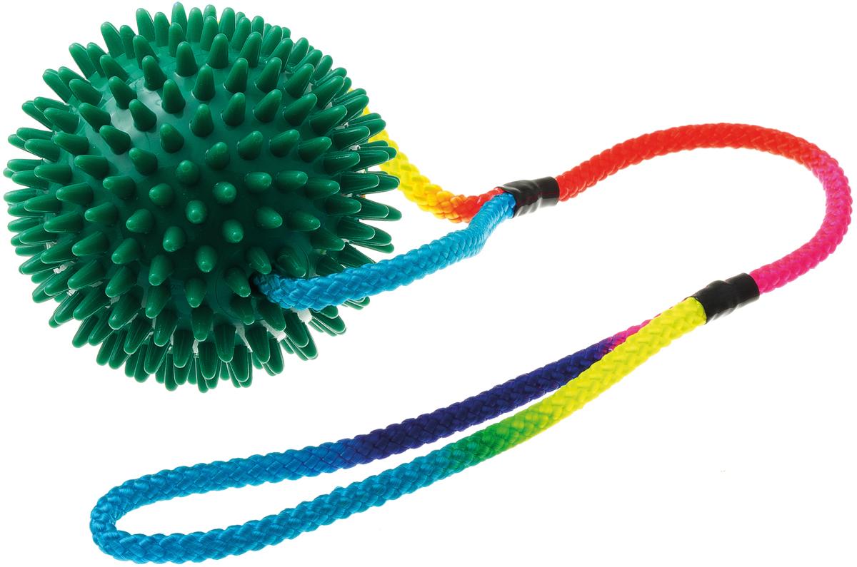 Мяч массажный 10 см на шнуре 50 см 771050771050