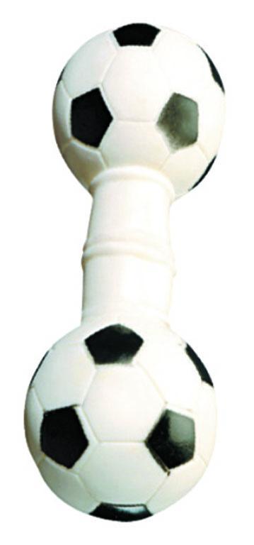 Игрушка для собак V.I.Pet Гантель футбольнаяL-122Прочная игрушка с пищалкой V.I.Pet Гантель футбольная изготовлена из натурального латекса с использованием только безопасных нетоксичных красителей. Великолепно подходит для игры и массажа десен вашей собаки. Игрушка не позволит скучать вашему питомцу ни дома, ни на улице.