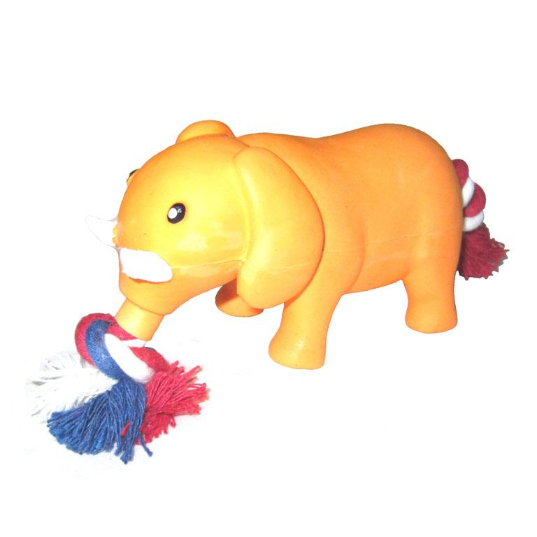 Игрушка латекс Слон с канатом 14 см L-202L-202