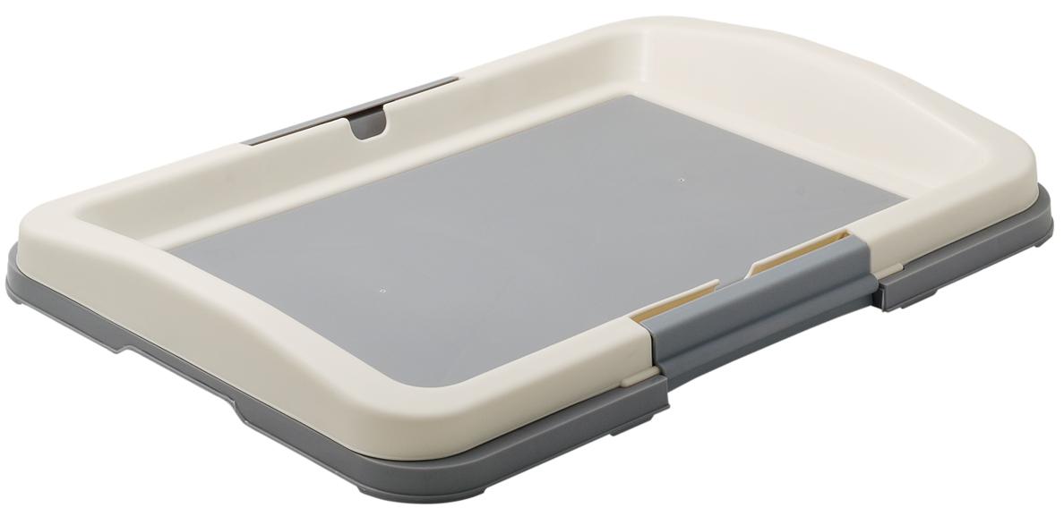 Туалет для собак V.I.Pet Японский стиль, цвет: серый, белый, 48 х 35 х 5 смP102-04Туалет для собак V.I.Pet Японский стиль, изготовленный из нетоксичного пластика, предназначен для собак и щенков. Гигиеническая пеленка помещается под рамку, которая удерживается боковыми фиксаторами. Туалет легко моется водой. Основание снабжено противоскользящими ножками.
