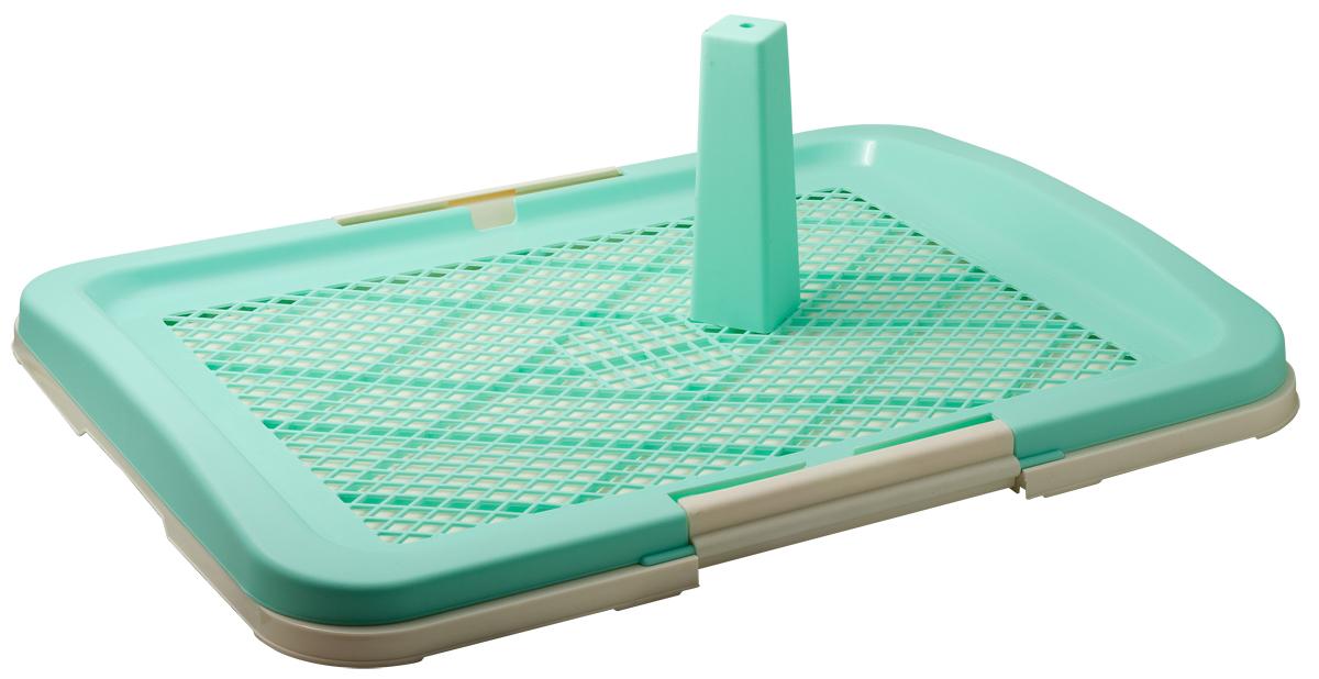Туалет для собак V.I.Pet Японский стиль, со столбиком, цвет: зеленый, молочный, 63 х 49 х 6 смP160-01Туалет V.I.Pet предназначен для собак и щенков. Выполнен из нетоксичного пластика. Съемный столбик легко крепится на решетку и позволяет применять туалет независимо от пола собаки. Гигиеническая пеленка (не входит в комплект) помещается под решетку, удерживаемую боковыми фиксаторами. Решетка защищает пеленку от погрызов. Туалет легко моется водой.