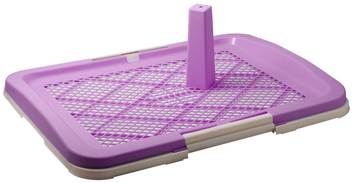Туалет д/соб. со столбиком 63*49*6 см (фиолетовый) P160-06 /10/P160-06