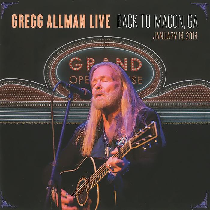 Gregg Allman. Live: Back To Macon, GA (2 CD)