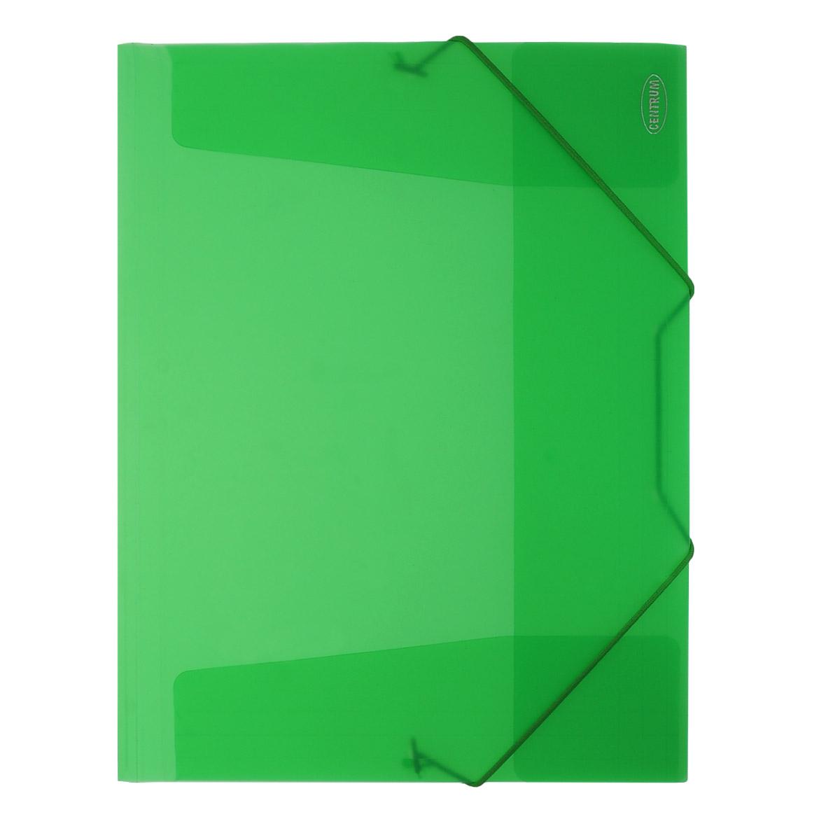 Папка на резинке Centrum пластиковая, формат А4, цвет: зеленый. 8001680016_зеленыйПапка на резинке Centrum станет вашим верным помощником дома и в офисе. Это удобный и функциональный инструмент, предназначенный для хранения и транспортировки больших объемов рабочих бумаг и документов формата А4. Папка изготовлена из износостойкого высококачественного пластика. Состоит из одного вместительного отделения. Грани папки закруглены для дополнительной прочности и сохранности опрятного вида папки. Папка - это незаменимый атрибут для любого студента, школьника или офисного работника. Такая папка надежно сохранит ваши бумаги и сбережет их от повреждений, пыли и влаги.