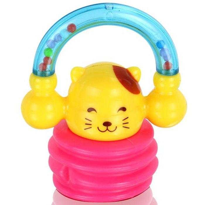 Игрушка-погремушка Малышарики Киска, цвет: розовый, желтыйMSH0302-014С первых месяцев жизни малыш начинает интересоваться яркими, подвижными предметами, ведь они являются его главными помощниками в изучении нашего удивительного мира. Забавная погремушка Киска поможет малышу научиться фокусировать внимание. Игрушка развивает мелкую моторику и слуховое восприятие. Выполнена в ярком дизайне и из безопасных материалов. Удобная форма игрушки позволит малышу с легкостью взять и держать ее, а приятный звук погремушки порадует и заинтересует его. Игрушка поможет развить цветовосприятие, тактильные ощущения и мелкую моторику рук ребенка, а элемент погремушки поспособствует развитию слуха
