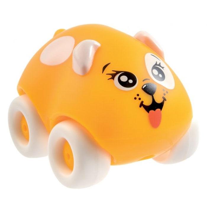 Smoby Машинка Animal Planet Собачка цвет желтый211349Машинка Smoby Animal Planet Farm. Собачка привлечет внимание вашего ребенка и не позволит ему скучать. Машинка оформлена очаровательной мордочкой собачки, а также дополнена двумя ушками и маленьким хвостиком. Колесики машинки вращаются. Игрушка выполнена из прочного пластика и не имеет острых граней, что делает ее безопасной для игры. Игры с такой машинкой развивают концентрацию внимания, координацию движений, мелкую и крупную моторику, цветовое восприятие и воображение. Малыш будет часами играть с машинкой-зверюшкой, придумывая разные истории. Порадуйте своего ребенка таким замечательным подарком!