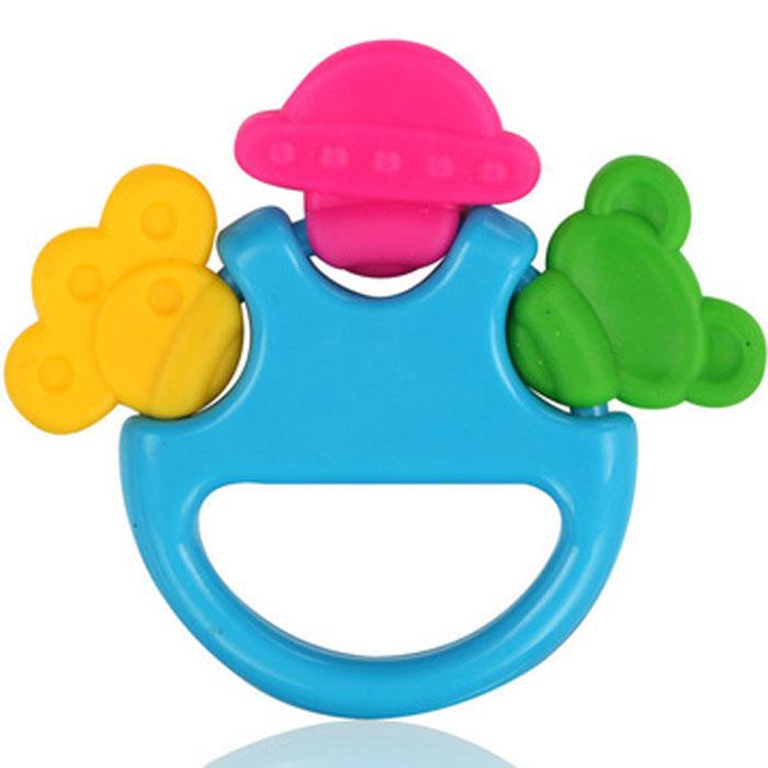 Погремушка-прорезыватель Малышарики Цирк, цвет: голубойMSH0302-025С яркой, разноцветной и приятной на ощупь погремушкой- прорезывателем ребенку будет очень интересно играть, а когда начнут резаться зубки, она станет незаменимой вещью. Кроме того, игрушка развивает мелкую моторику, восприятие формы и цвета предметов, а также слух и зрение. Выполнена в ярком дизайне и из безопасных материалов. Удобная форма игрушки позволит малышу с легкостью взять и держать ее, а приятный звук погремушки порадует и заинтересует его. Игрушка поможет развить цветовосприятие, тактильные ощущения и мелкую моторику рук ребенка, а элемент погремушки поспособствует развитию слуха. Уважаемые клиенты! Обращаем ваше внимание на возможные изменения в дизайне некоторых деталей товара. Поставка осуществляется в зависимости от наличия на складе.