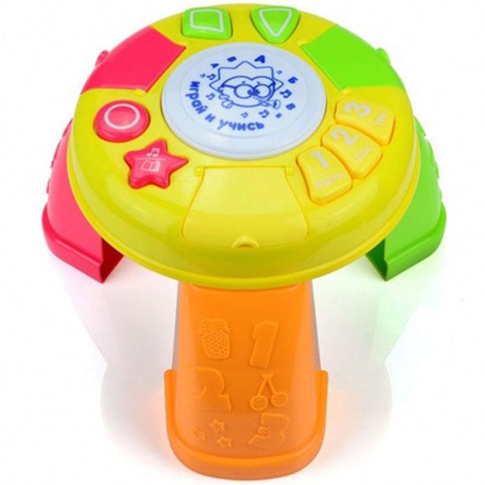 Развивающая игрушка Малышарики Волшебный столикMSH0303-012Развивающая игрушка Волшебный столик выполнена в ярком дизайне из высококачественных и безопасных для детей материалов. Игрушка представляет собой многофункциональный столик, который познакомит малыша с цифрами, цветами и геометрическими фигурами. Игровая панель столика снабжена световыми и звуковыми эффектами с русифицированной озвучкой. Игрушка Волшебный столик развивает мелкую моторику, слуховое восприятие, а также концентрацию внимания и логическое мышление. Рекомендуемый возраст: 1-3 года. Для работы игрушки необходимы 3 батарейки напряжением 1,5V типа АА (не входят в комплект). Уважаемые клиенты! Обращаем ваше внимание на возможные изменения в дизайне некоторых деталей товара. Поставка осуществляется в зависимости от наличия на складе.