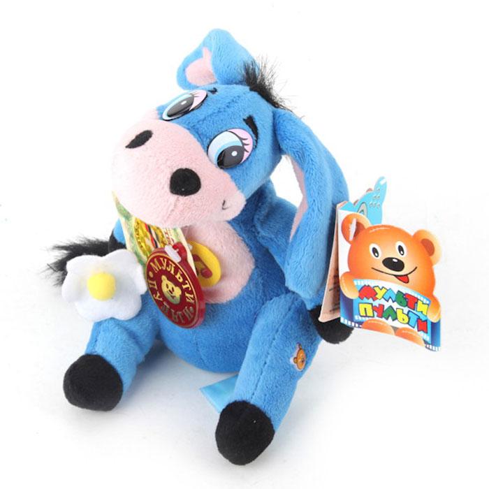 Мягкая озвученная игрушка Мульти-Пульти Ослик Иа, цвет: синий, 15 смV90214/15s6_синийМягкая озвученная игрушка Мульти-Пульти Ослик Иа вызовет улыбку у каждого, кто ее увидит! Она выполнена в виде всем известного мультипликационного персонажа - ослика из мультфильма Винни-Пух. Туловище игрушки - мягконабивное, глазки - пластик. Ослик держит цветок. Если нажать игрушке на животик, ослик Иа произнесет фразы своего героя и споет песенку: А не пора ли нам подкрепиться? По моему - пора!, Зачем вы спросите нам мед? А для того, чтобы я его ел!, Случайно подумал, а не пойти ли нам в гости?, Хорошо живет на свете Винни Пух! От того поет он эти песни вслух! И неважно, чем он занят, если он худеть не станет, а ведь он худеть не станет,(если, конечно, вовремя подкрепиться…). Да!, Куда идем мы с пятачком, большой, большой секрет, и не расскажем мы о нем, о нет и нет и нет . Игрушка подарит своему обладателю хорошее настроение и позволит насладиться обществом любимого героя. Рекомендуется докупить 3 батарейки напряжением 1,5V типа LR44 (товар...
