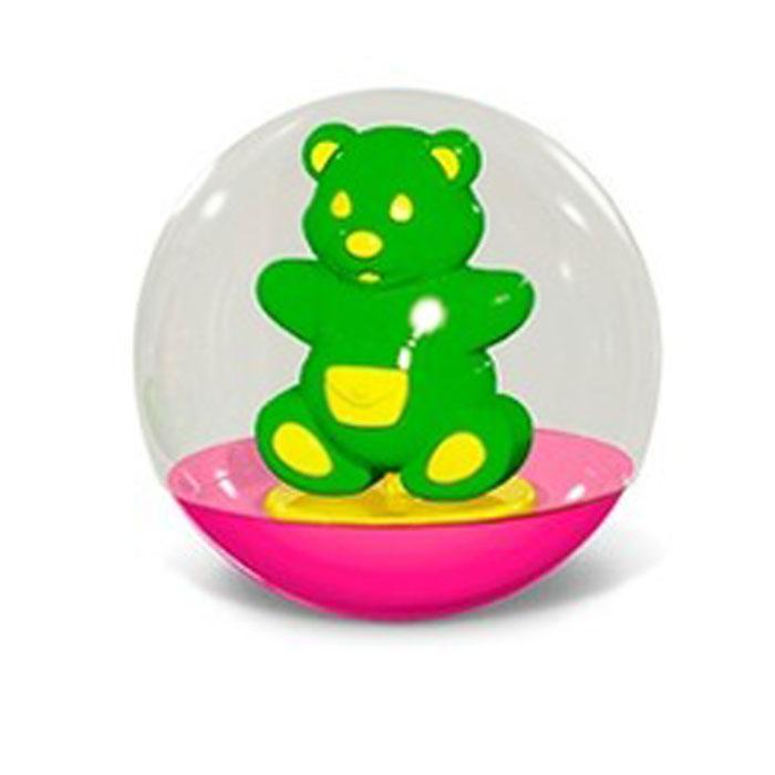"""Stellar Погремушка-неваляшка """"Мишка"""", 10 см, цвет: салатовый"""