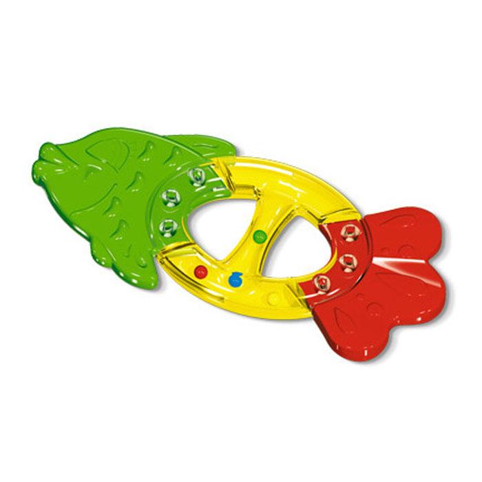 Прорезыватель Рыбка, цвет: красный, зеленый