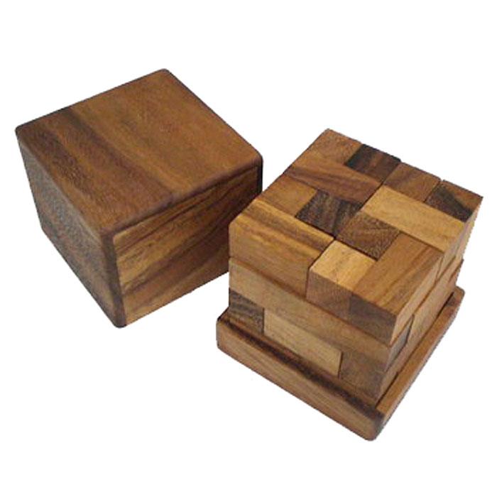 Dilemma Головоломка Мозговая атакаIQ175Головоломка Dilemma Мозговая атака, выполненная из дерева, станет отличным подарком всем любителям головоломок! Пазл состоит из 12 кубиков, по 2 каждого вида. Нужно сложить блоки разного размера так, чтобы получился куб. Это достаточно сложно. Слишком сложно? Воспользуйтесь подсказкой из предложенного решения. Игра рассчитана на одного игрока. Головоломка Dilemma Мозговая атака стимулирует логику, пространственное мышление и мелкую моторику рук.