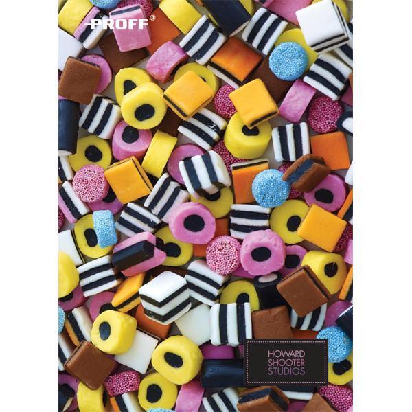 Записная книжка B6 80 листов в клетку Proff. Сладости тонир. офсет/твердая обложка из ткани на резинке/ цветная печать/ляссеHS15-NBF680