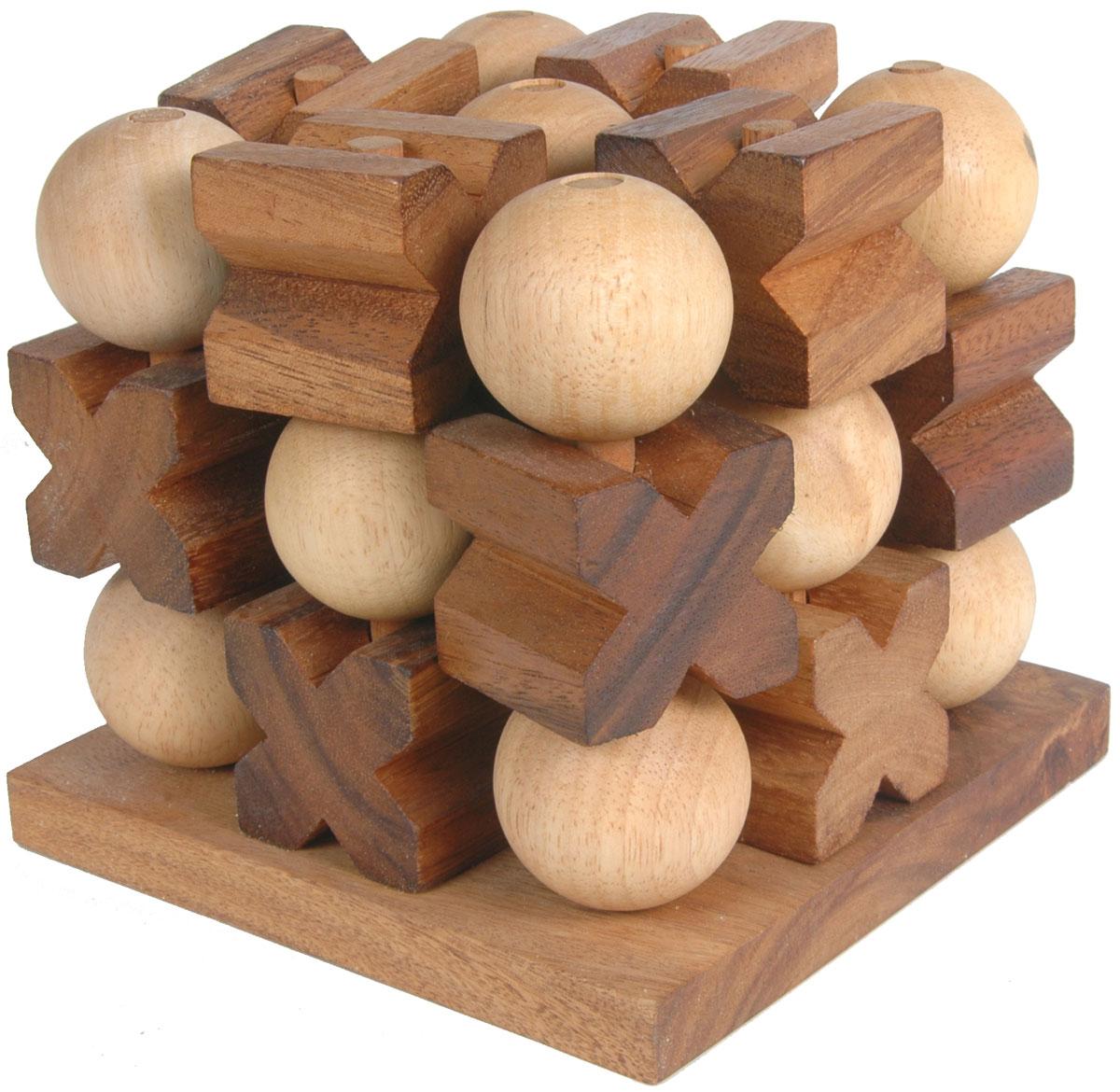 Dilemma Головоломка Крестики-нолики 3D 6 элементов 10х10х8,5 смIQ220Головоломка Dilemma Крестики-нолики 3D, выполненная из дерева, станет отличным подарком всем любителям головоломок! Каждый игрок выбирает свои фишки - X или O. Главная цель игры - выстроить ряд из 3 своих фишек. Ряд может быть расположен в любом направлении: вертикально, горизонтально или по диагонали. Каждый игрок по очереди выставляет на доску по одной фишке. Стратегическая игра для двух игроков. Головоломка Dilemma Крестики-нолики 3D стимулирует логику, пространственное мышление и мелкую моторику рук.