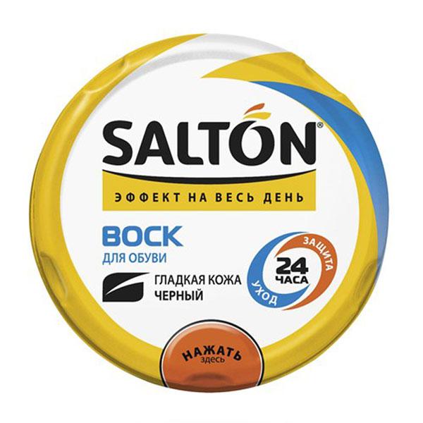 Воск Salton для обуви из гладкой кожи, цвет: черный, 75 мл