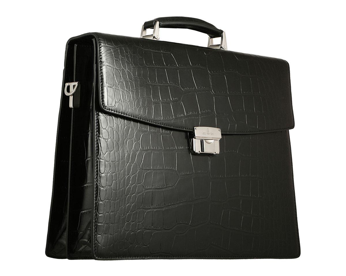 Портфель мужской Leo Ventoni, цвет: черный. 03002129-01