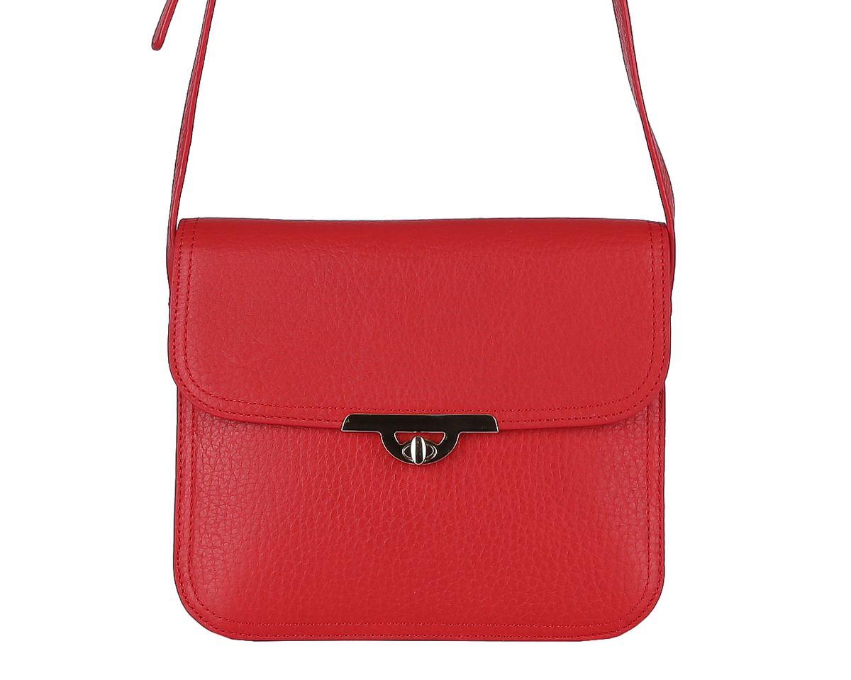 Сумка женская Fabretti, цвет: красный. F4748AF4748AМиниатюрная женская сумка Fabretti изготовлена из натуральной кожи в лаконичном стиле и оформлена фактурным тиснением. Сумка оснащена удобным плечевым ремнем регулируемой длины. Изделие закрывается клапаном на замок-вертушку. Первое отделение содержит 2 накладных кармана для мобильного телефона и мелочей, а во втором расположен врезной карман на молнии. Тыльную сторону дополняет врезной карман на молнии. Модель держит форму. Размеры не вмещают формат А4. Фурнитура золотого цвета. Изделие упаковано в фирменный чехол-сумку. Выглядеть стильно и оригинально с аксессуарами от Fabretti совсем несложно, так как продукция этого бренда сочетает в себе не только удобство, но и современный дизайн.