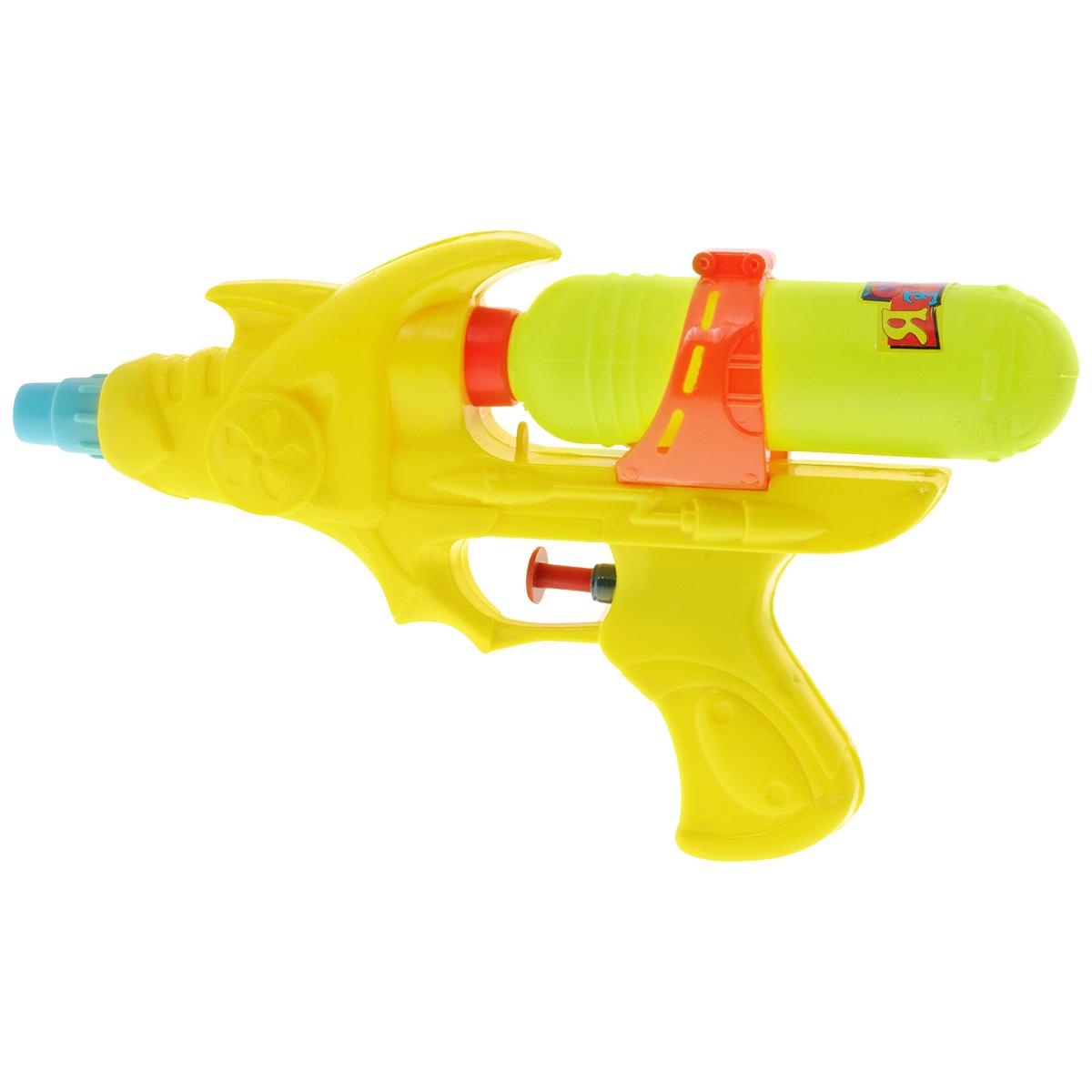 Bebelot Водный пистолет Бластер цвет желтыйBEB1106-008Водный пистолет Bebelot Бластер станет отличным развлечением для детей в жаркую летнюю погоду. Пистолет выполнен из прочного безопасного пластика ярких цветов и невероятно прост в использовании. Заполните резервуар водой и начинайте стрелять! При нажатии на курок пистолет выстреливает струей воды. Резервуар для воды съемный, он надежно крепится к пистолету при помощи резьбы. Такая игрушка не только порадует малыша, но и поможет ему совершенствовать мелкую и крупную моторику, а также координацию движений. С водным пистолетом ваш малыш сможет устроить настоящее водное сражение!