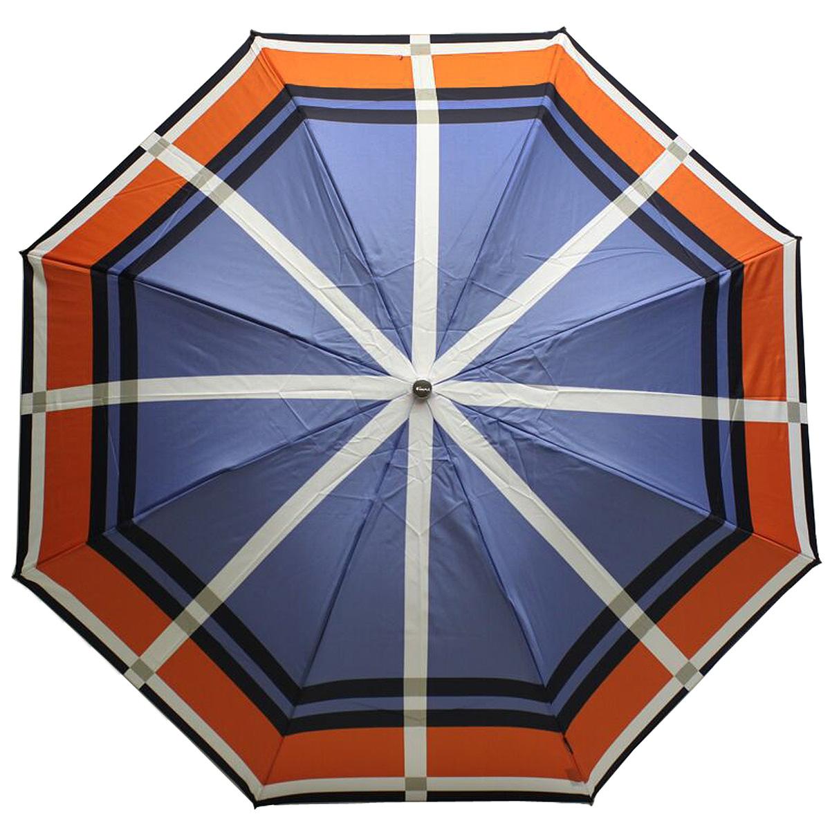 Зонт женский Knirps, автомат, 3 сложения, цвет: синий, белый, оранжевый. 82465328246532Стильный женский зонт Knirps, выполнен из стали и полиэстера, обработанного водоотталкивающей пропиткой. Зонт оформлен геометрическим принтом, который сочетает несколько сочных цветов. Зонт оснащен полностью автоматическим механизмом, каркас раскладывается в три сложения. Ручка разработана с учетом требований эргономики, имеет полиуретановое покрытие. К зонту прилагается чехол на молнии. Компактные размеры зонта в сложенном виде позволят ему без труда поместиться в сумочке и оказаться под рукой в нужный момент.