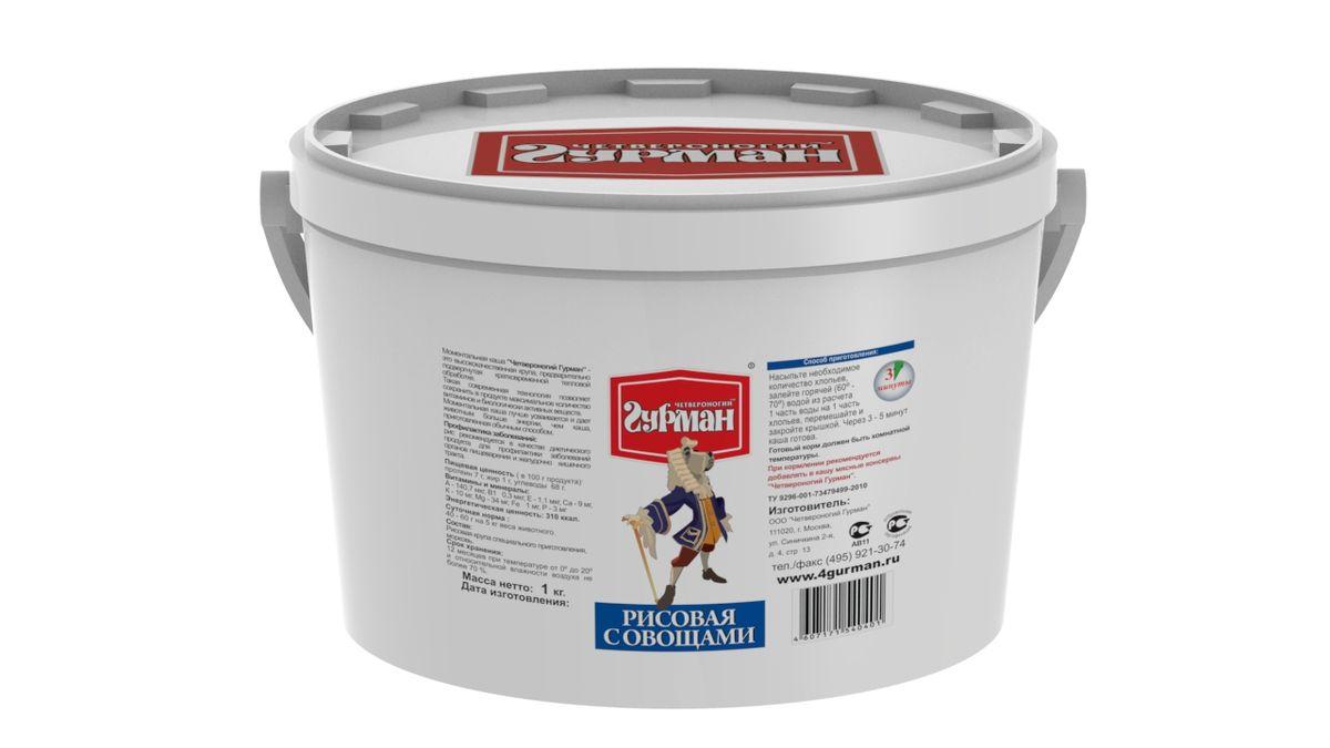 Хлопья моментального приготовления для собак Четвероногий гурман Рис с овощами, ведро 1 кг102110023Хлопья моментального приготовления для собак с добавлением моркови. Крупы — необходимый элемент полноценного рациона собаки. Специальная технология производства позволяет сохранить максимум питательной ценности в готовых хлопьях. Сырьё в процессе производства подвергается кратковременному воздействию высоким давлением и температурой. Для приготовления хлопья необходимо залить горячей (не кипящей) водой и подождать, пока блюдо остынет до комнатной температуры. Полезные свойства рисовых хлопьев: Используются в качестве диетического продукта. Полезны для профилактики заболеваний органов пищеварения и желудочно-кишечного тракта. Понижают уровень холестерола. Являются наименее аллергенным продуктом из зерновых. Состав: хлопья рисовые, сушёная морковь. Вес: 1 кг.