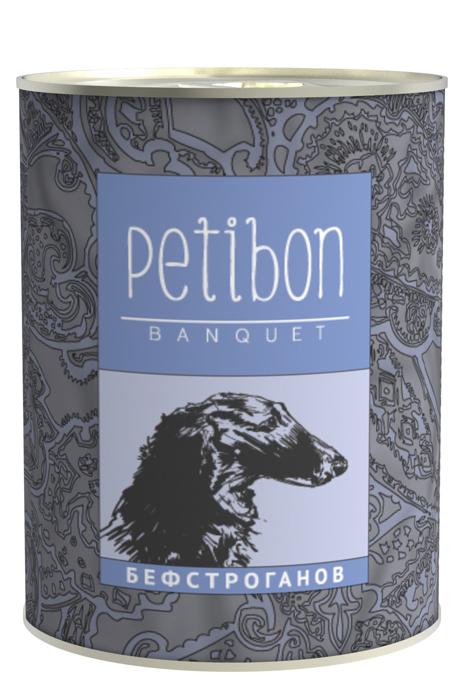Консервы для собак и щенков Petibon Banquet Бефстроганов, 340 г312109002Консервы Petibon Banquet — влажное мясное лакство под сметанным или сливочным соусом для собак и щенков. Продукт представляет собой деликатесное ресторанное блюдо, адаптированное для кормления домашних животных. Лакомства обладают хорошей питательной ценностью, содержат витамины и минералы. Рецептура разработана при участии ветеринарного врача, употребление в пищу питомцем абсолютно безопасно. Состав: говядина, сметанный соус, лук, грибы, масло растительное. Вес: 340 г.