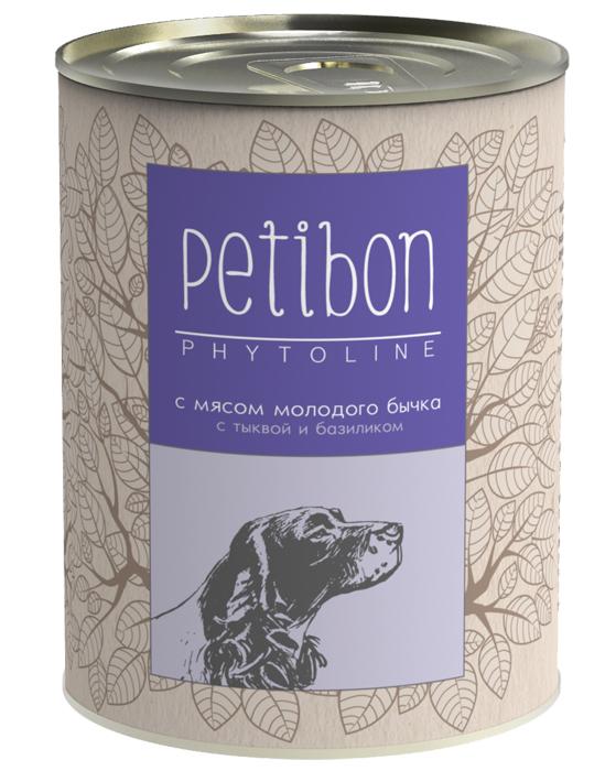 Консервы для собак Petibon Phytoline с мясом молодого бычка, 340 г313109002Petibon Phytoline — влажные мясные корма для собак с добавлением фруктов, ягод, овощей, злаков и целебных трав. В составе каждого вида содержится в среднем 15 фитокомпонентов, их общая доля не превышает 3%. Рецептура Phytoline уникальна, что подтверждено патентом. За счёт использования в составе растительных ингредиентов корма имеют профилактическую функциональную направленность. Состав: субпродукты говяжьи (рубец, сердце, печень, губы, почки), телятина, масло растительное, плазма крови, рис, овсяные отруби, тыква, лук, морковь, рыбий жир, бурые водоросли, клюква, черника, семя льна, базилик, душица, крапива, корень солодки, элеутерококк, пивные дрожжи, соль, желирующая добавка, вода. Вес: 340 г.