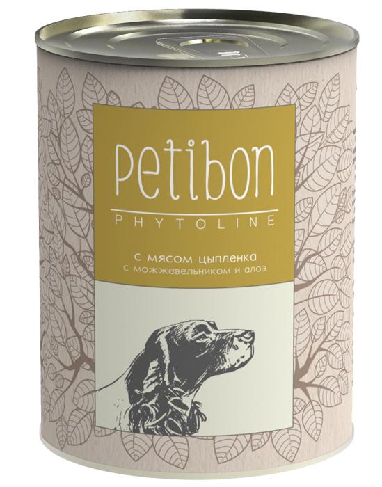 Консервы для собак Petibon Phytoline с мясом цыплёнка, 340 г