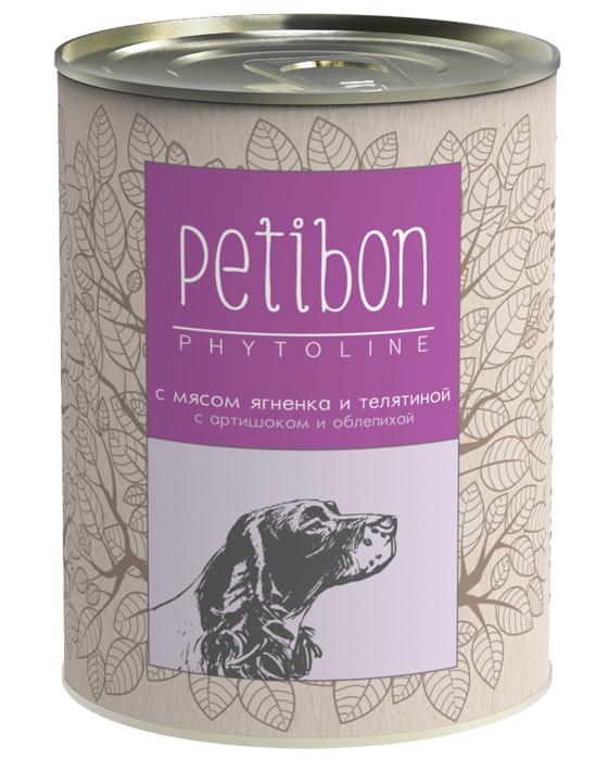 Консервы для собак Petibon Phytoline с мясом ягнёнка и телятиной, 340 г313109004Petibon Phytoline — влажные мясные корма для собак с добавлением фруктов, ягод, овощей, злаков и целебных трав. В составе каждого вида содержится в среднем 15 фитокомпонентов, их общая доля не превышает 3%. Рецептура Phytoline уникальна, что подтверждено патентом. За счёт использования в составе растительных ингредиентов корма имеют профилактическую функциональную направленность. Состав: субпродукты говяжьи (рубец, сердце, печень, губы, почки), ягнятина, говядина, масло растительное, плазма крови, рис, крупа ячневая, тыква, морковь, лук, артишок, рыбий жир, бурые водоросли, облепиха, черника, семя тыквы, корень цикория, мята перечная, розмарин, тысячелистник, семя укропа, пивные дрожжи, соль, желирующая добавка, вода. Вес: 340 г.