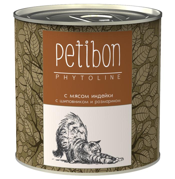 Консервы для кошек Petibon Phytoline с мясом индейки, 240 г [randomtext category=